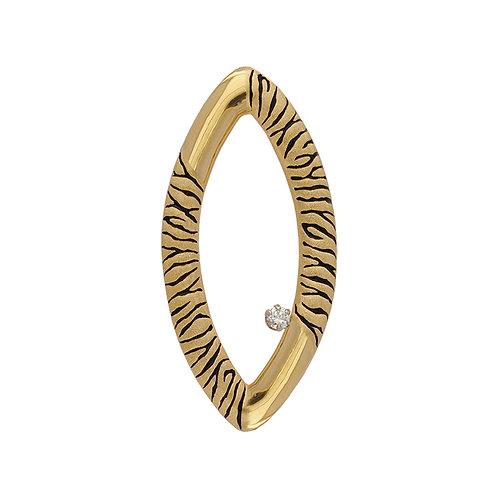 Zebra Marquis Pendant