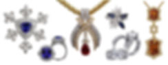 Crown collection, necklace, rings, tanzanite, earrings, Diamonds, 18kt Gold, Fine jewelry, Fleur de lis,