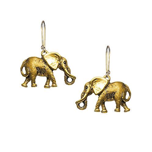 2D Elephant Earrings