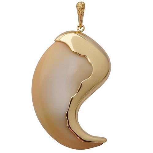 Large Claw Wave Pendant w/Claw Bail