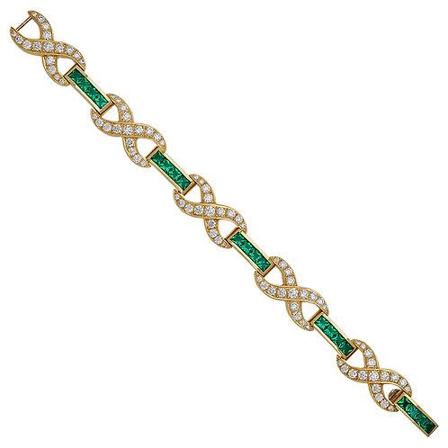 Emerald Infinity Bracelet