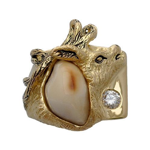 Elk Ivory Diamond Ring