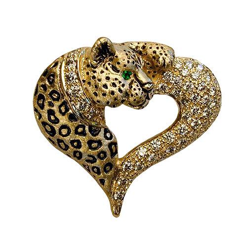 Leopard Heart Pave