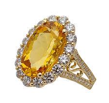 Topaz, Citrine, Pendants, necklaces, rings, earrings, Diamonds, 18kt Gold, Fine jewelry,