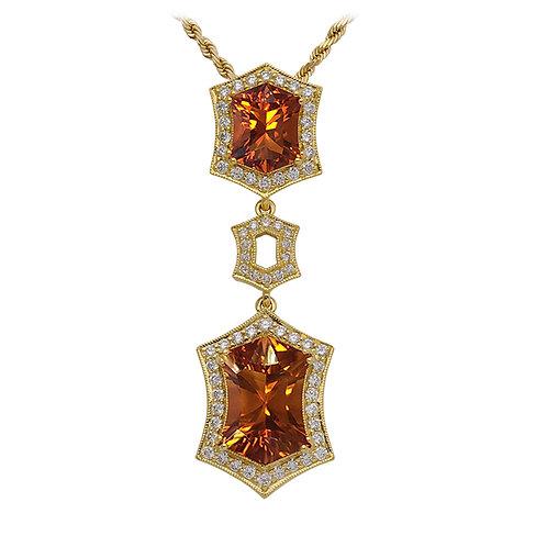 Fancy Fire Citrine Pendant