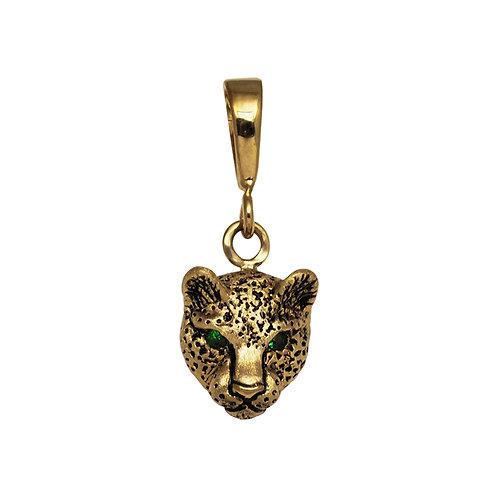 Leopard Bust w/ Tsavorite Eyes
