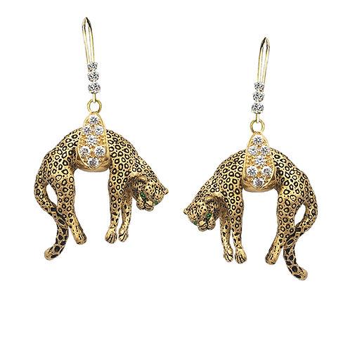 Leopard Drape Earrings