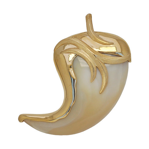 Fancy Gold Claw Pendant