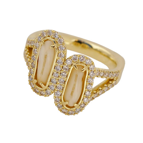 Red Stag Tooth Diamond Ring