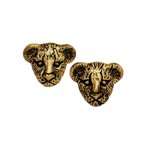 Lion Cub Stud Earrings