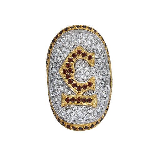 Signature C-Bar Saddle Ring