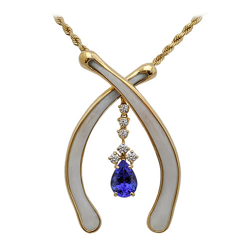 Floating Bones W/ Tanzanite & Diamonds