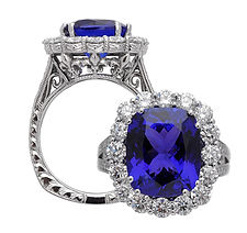 Tanzanite, Turquoise, Pendants, necklaces, rings, earrings, Diamonds, 18kt Gold, Fine jewelry,