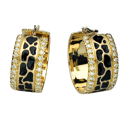 Giraffe Diamond Hoops