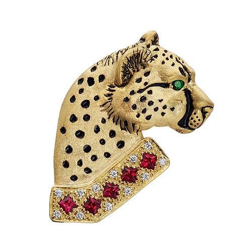 Cheetah Ruby Collar
