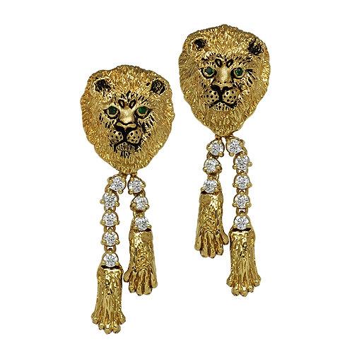 Lion Dangle Earrings