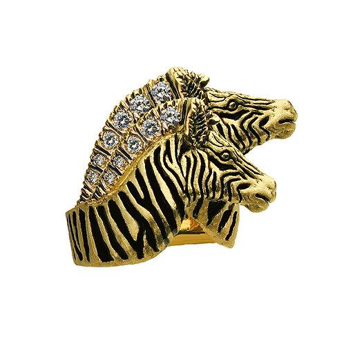 Zebra Duo Ring