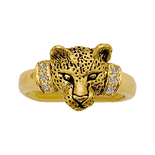 Leopard Bust Ring