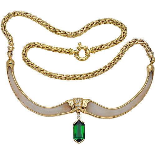 Magnificent Green Bone Necklace
