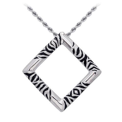 Zebra Square Pendant