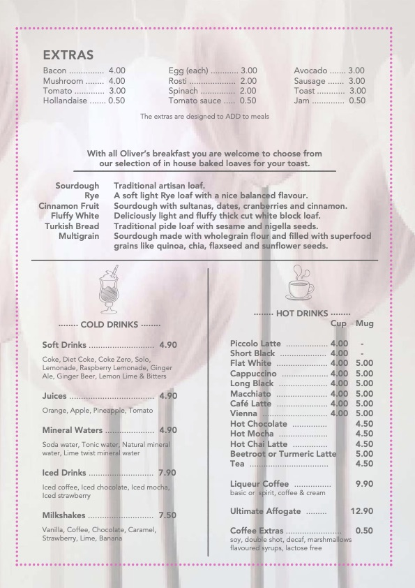 Breakfast Menu 2