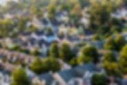 Vista aérea de tejados de las casas en l