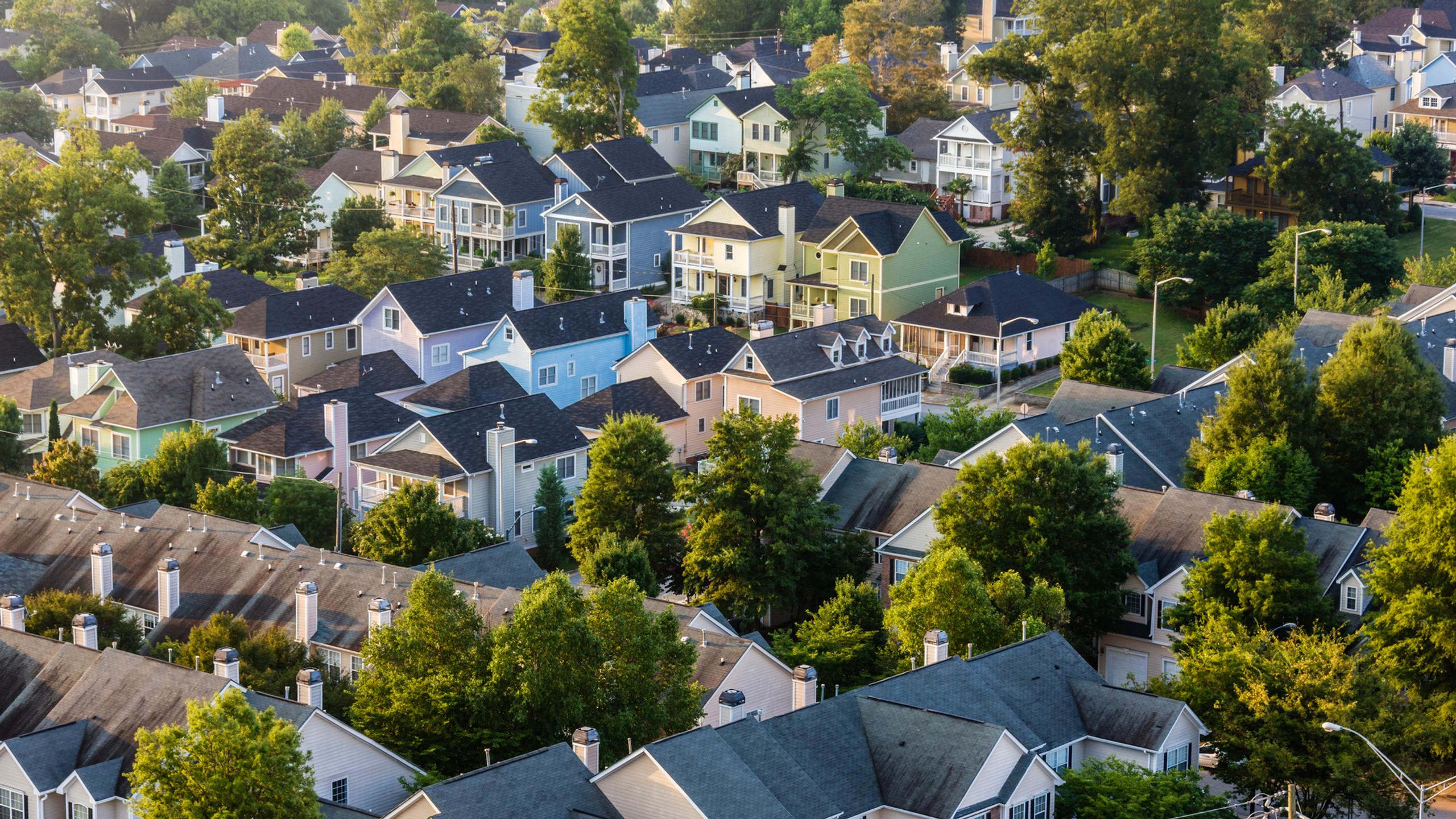 Vue aérienne du projet immobilier buckingham