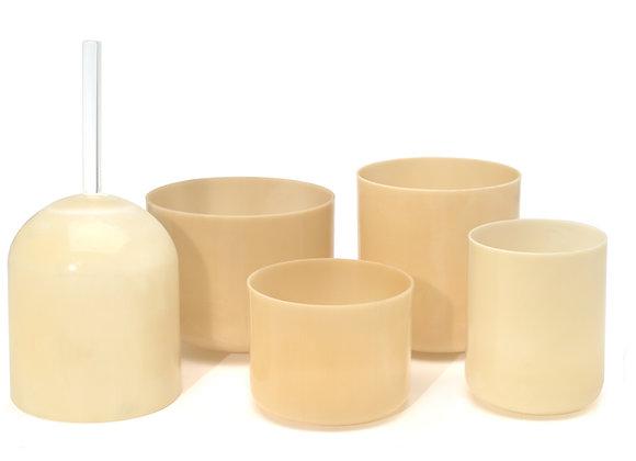 White Gold Alchemy Crystal Singing Bowl