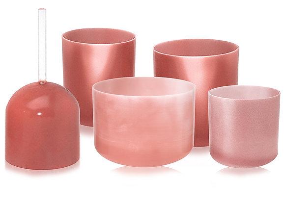 Rose Quartz Alchemy Crystal Singing Bowl