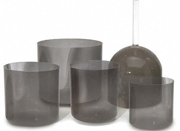 Charcoal Clear Alchemy Crystal Singing Bowl