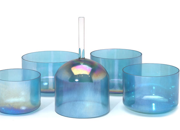 Aqua 24k Gold Alchemy Crystal Singing Bowl