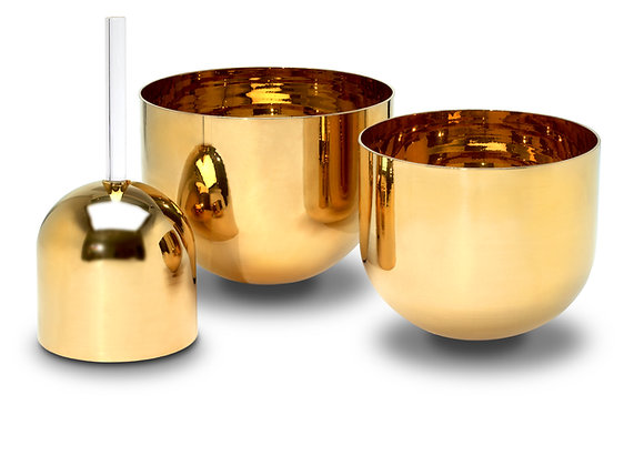 Solid Gold Therapeutic Alchemy Crystal Singing Bowl