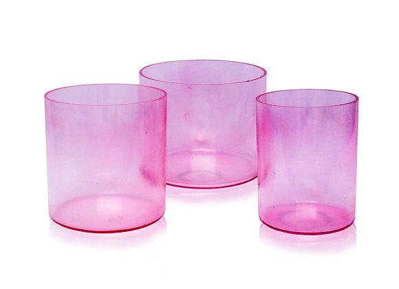 Pink Aura Gold Alchemy Crystal Singing Bowl