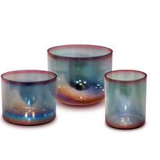 Aqua Gold Pink Aura Gold Alchemy Crystal Singing Bowl