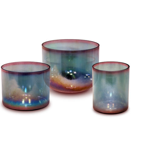 Aqua Gold Pink Aura Gold Alchemy Crystal Singing Bowl