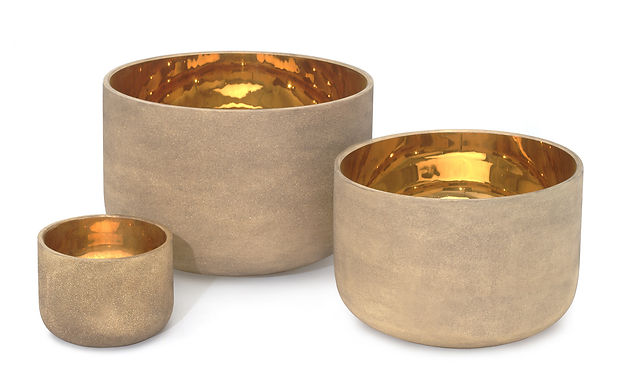 Solid Gold Alchemy Crystal Singing Bowl