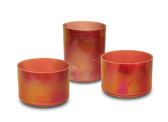 Platinum Rose Opaque Alchemy Crystal Singing Bowl
