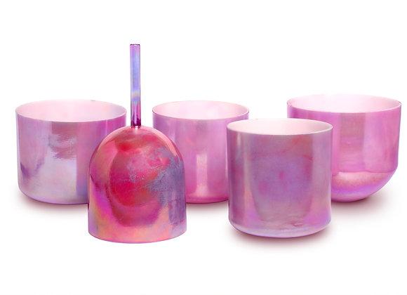 Pink Ocean Gold Platinum Alchemy Crystal Singing Bowl