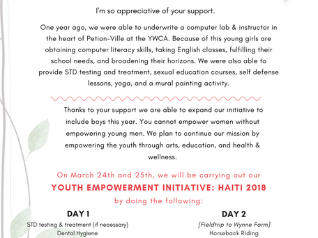 Youth Empowerment Initiative: Haiti 2018