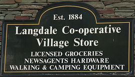 Front sign for Langdale Co-operative