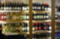 A wide range of red and white wine on offer