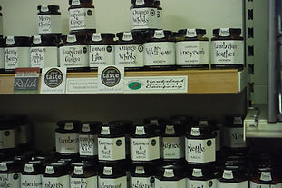 A variety of locally produced Jams that we sell