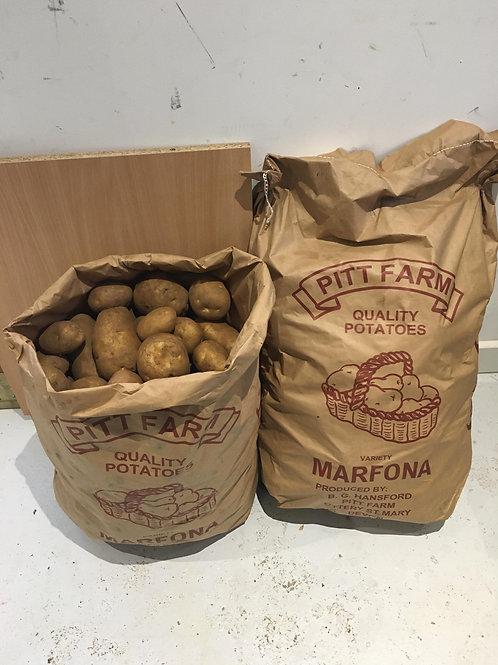 Marfona (Old Season) Dirty Potatoes Sack - 25Kg