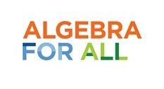 Algebra for all logo