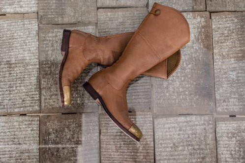 Brass Capped Knee Height Riding Boot