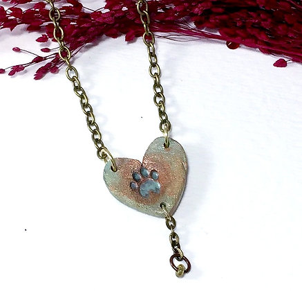 Animal Lover Heart Necklace
