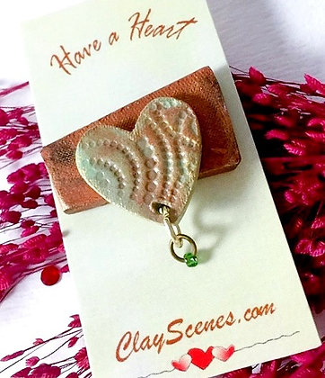 Have a Heart Sage green Pin
