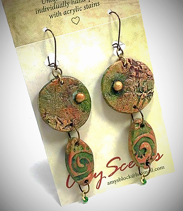 Earthy Green Earrings