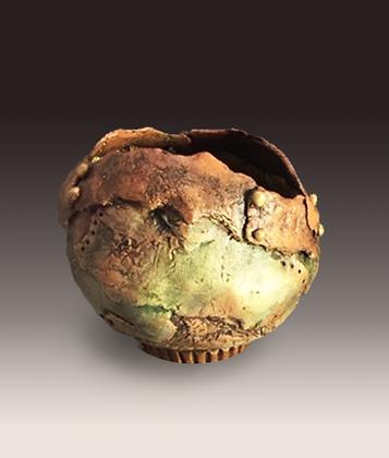 Small Free Form Patina Bowl