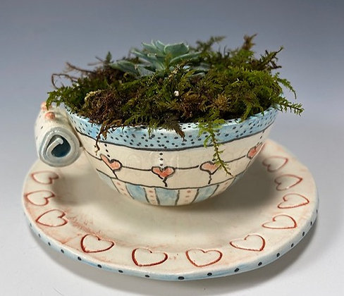 Cup of Hearts Planter